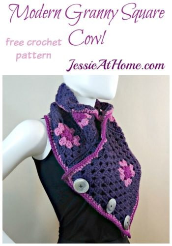 Modern Granny Square Cowl free crochet pattern by Jessie At Home