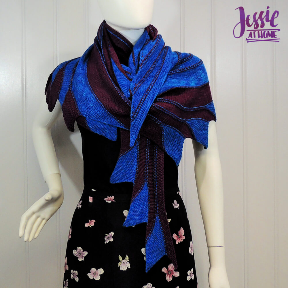 Nightbird - free diagonal knit scarf pattern by Jessie At Home - 1