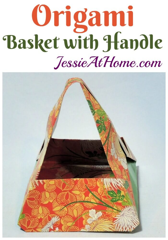 Origami Basket With Handle - a lovely way to hold your special items!