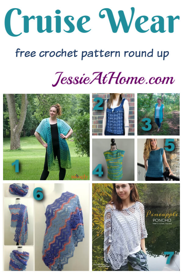 Crochet Cruise Wear - free crochet pattern round up