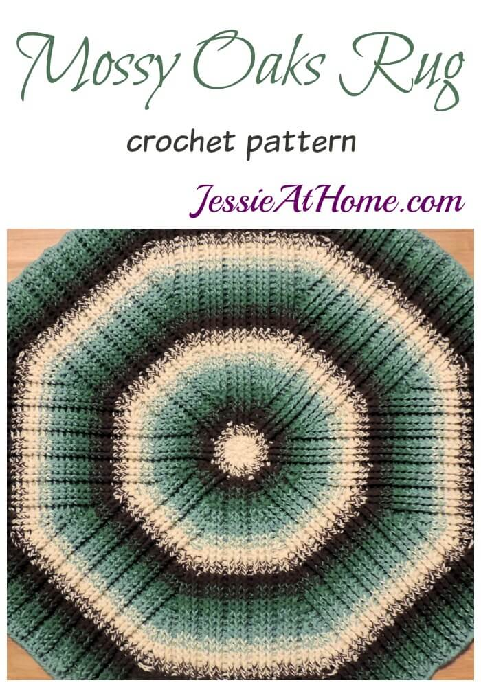 Crochet Post Stitch – Mossy Oaks Rug – Squishy, textured, round rug to dress up any room!