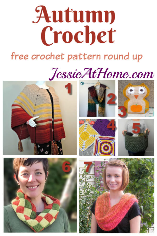 Autumn Crochet - free crochet pattern round up from Jessie At Home