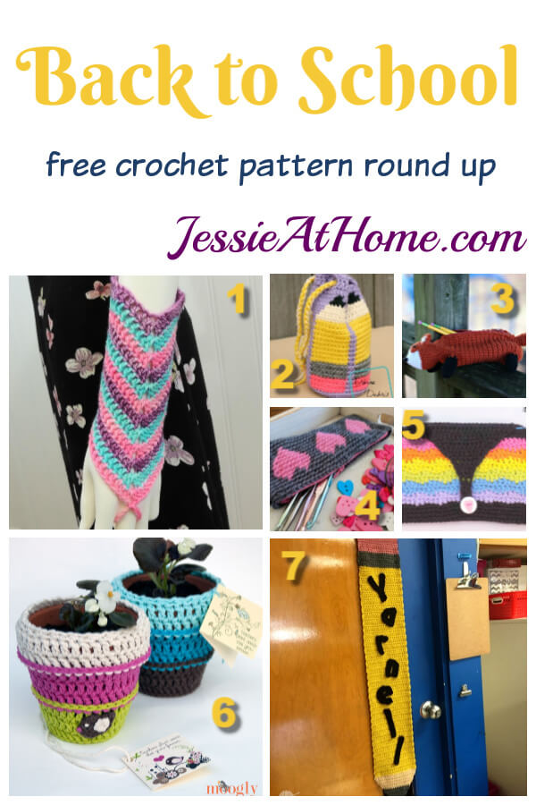 Back To School Crochet - Free crochet pattern round up from Jessie At Home