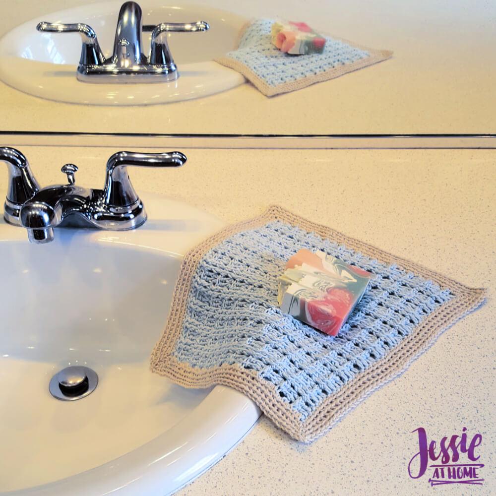 Broken Rib Crochet Washcloth - crochet patter by Jessie At Home - 1