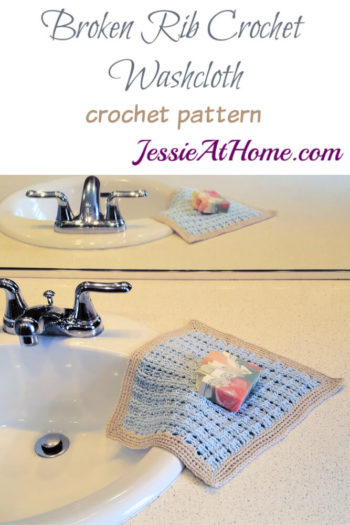 Broken Rib Crochet Washcloth - crochet patter by Jessie At Home