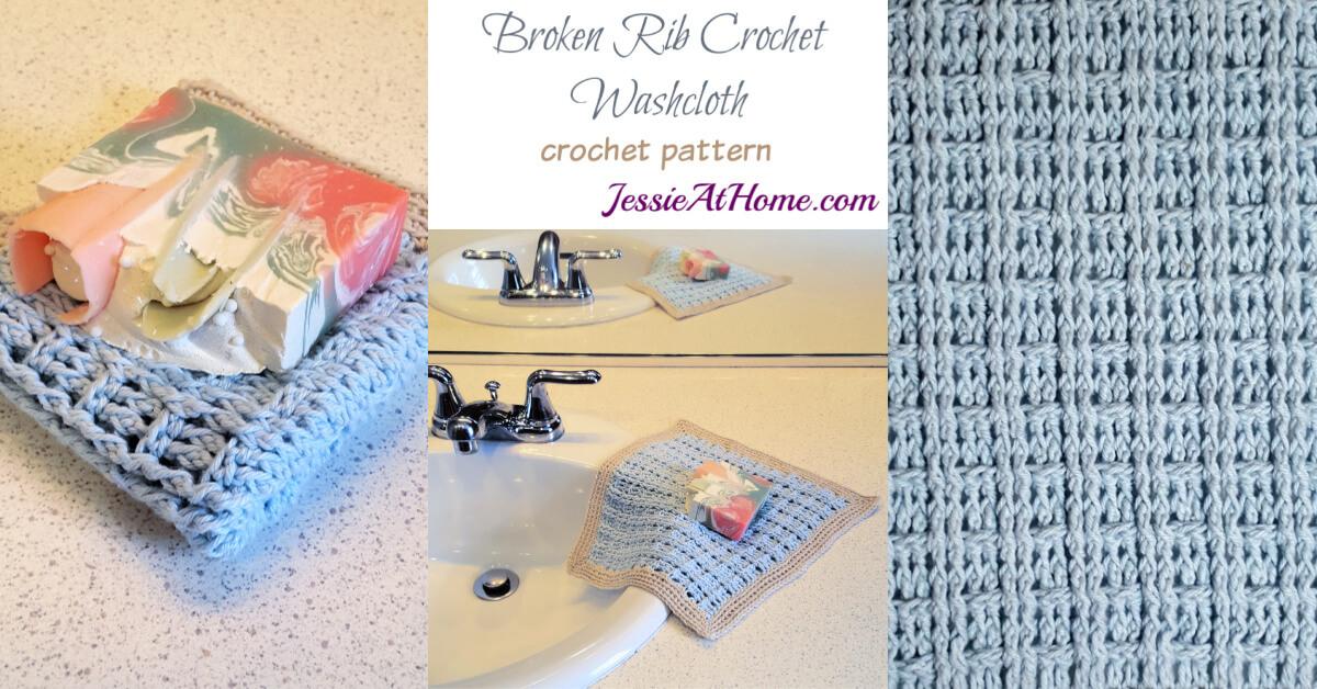 Broken Rib Crochet Washcloth Cal Jessie At Home