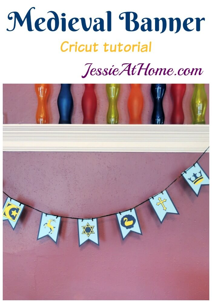 DIY Medieval Banner Kids Craft - great for a party activity!