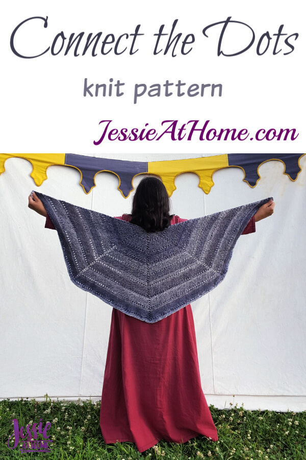 Eyelet Row Knitting Pattern - Connect the Dots by Jessie At Home