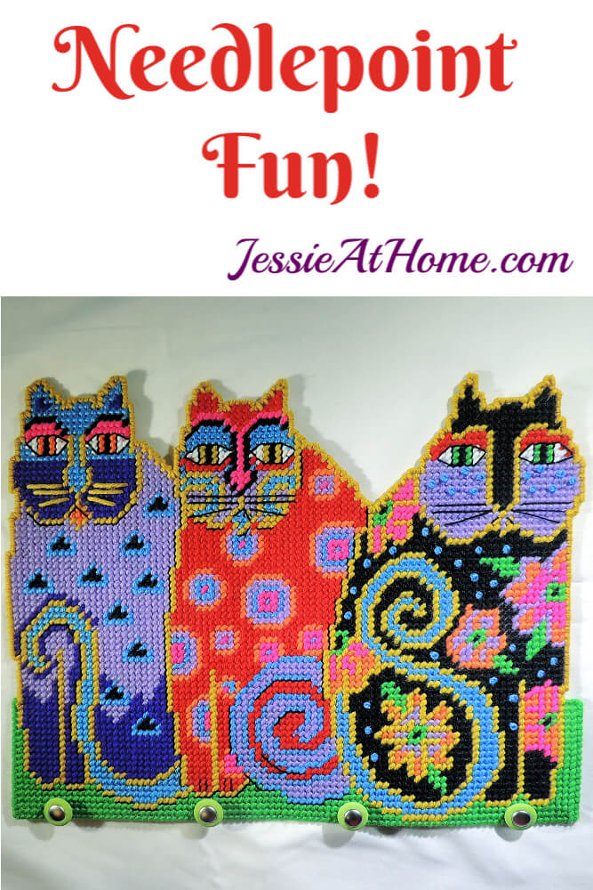 Needlepoint Fun with Design Works - Cat Trio by Laurel Burch