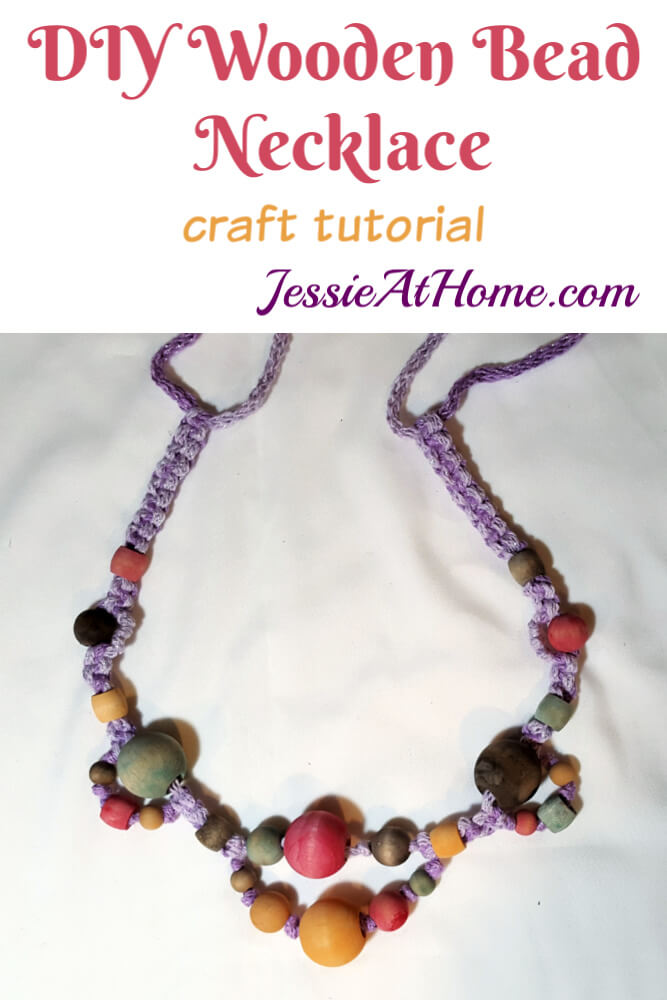 DIY Wooden Bead Necklace - Make a statement and bring the fashion!