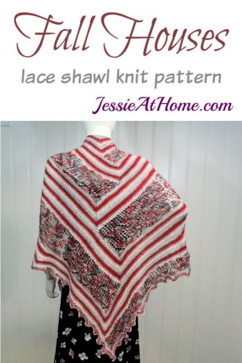 Fall Houses lace shawl knit pattern by Jessie At Home
