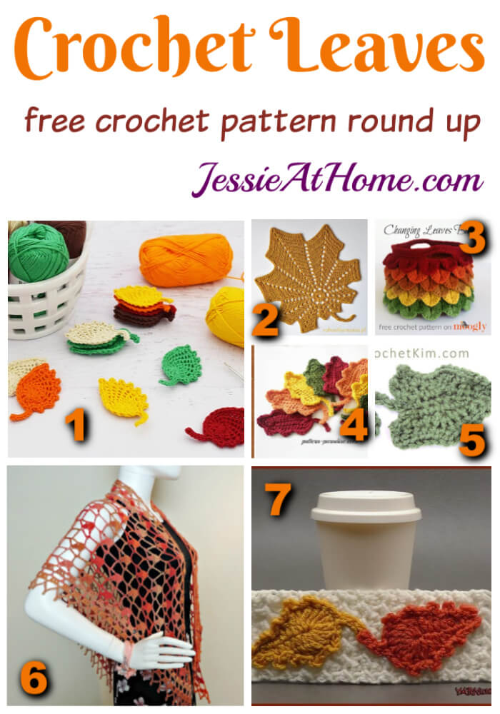 Free Crochet Leaf Pattern Round Up - The leaves may be falling, but you can keep them with yarn!