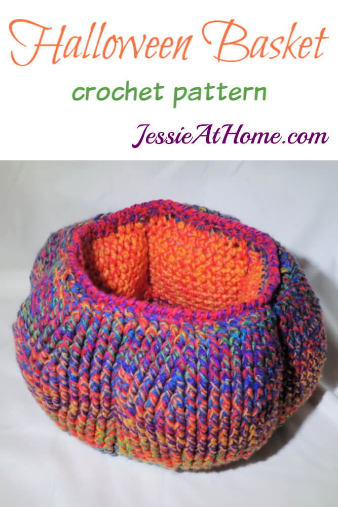 Halloween Basket Crochet Pattern by Jessie At Home