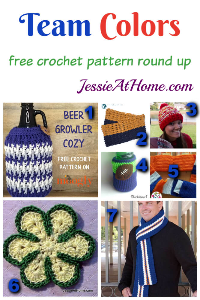 Team Colors free crochet pattern round up from Jessie At Home