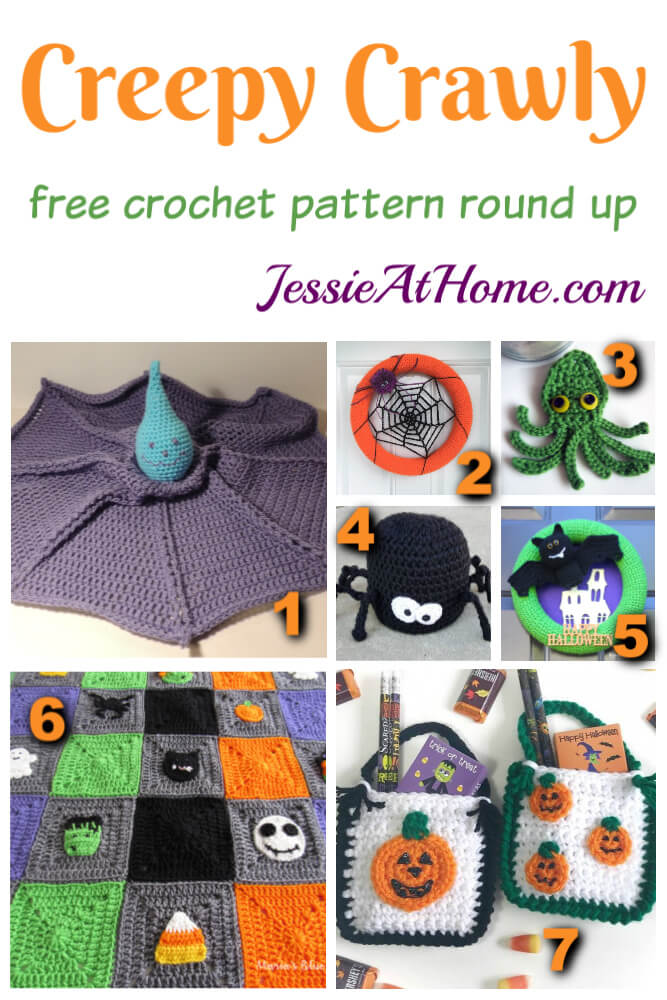Creepy Crawly Crochet free crochet pattern round up from Jessie At Home