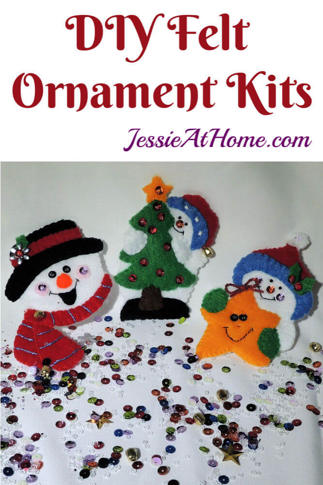 DIY Felt Ornament Kits - Bring on the snow!