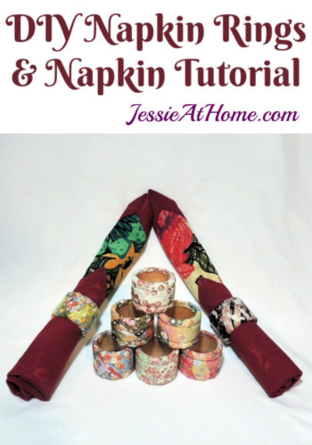 DIY Napkin Rings and Napkin Tutorial by Jessie At Home