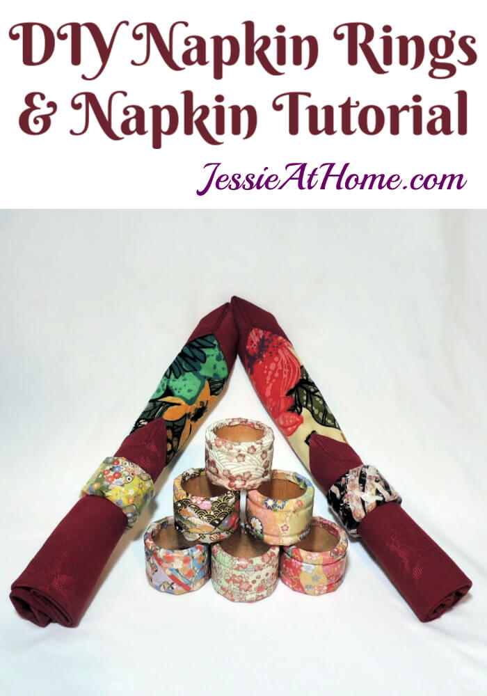 DIY Napkin Rings with Origami Paper and Bonus Fabric Napkin Tutorial
