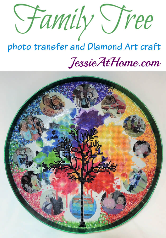 Family Tree Craft - Photo transfer and Diamond Art creation