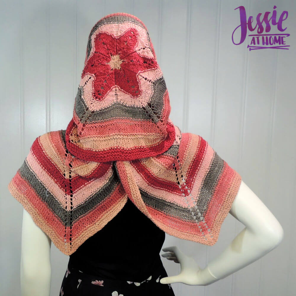 Hexed Flower - knit hexagon wrap pattern by Jessie At Home - 1