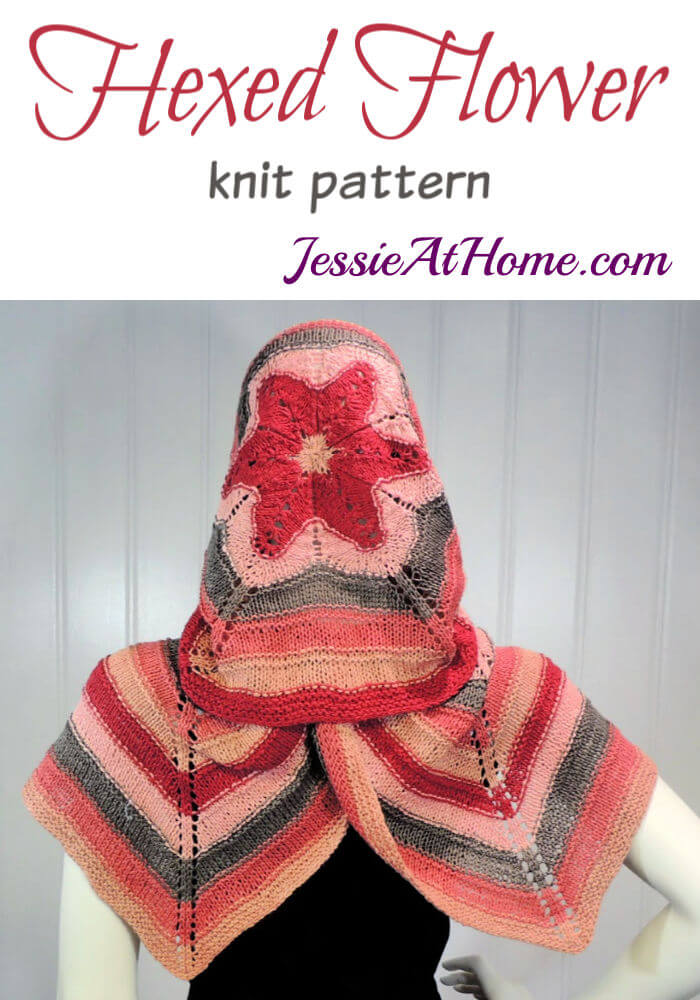 Hexed Flower - knit hexagon wrap pattern by Jessie At Home