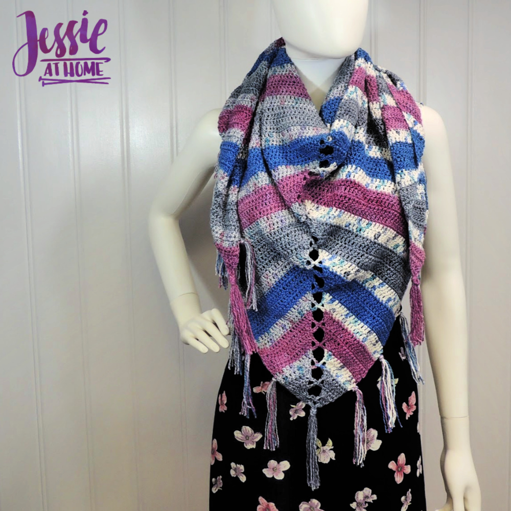 Mariposa Shawl crochet pattern by Jessie At Home - 1