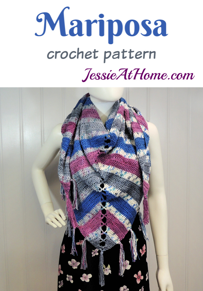Mariposa Shawl crochet pattern by Jessie At Home