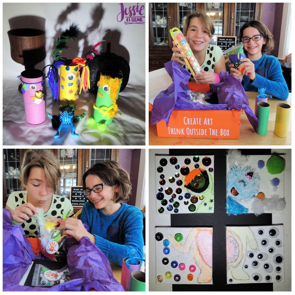 Monster Crafts October Orange Art Box - Jessie At Home - monster fun