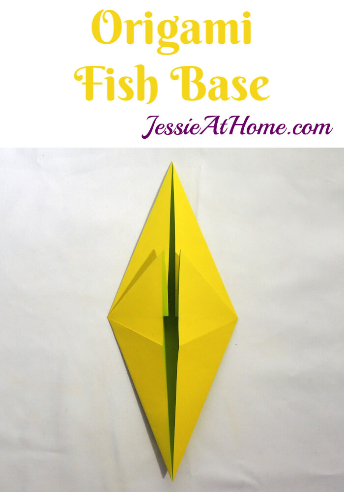 Origami Fish Base - written and pictorial tutorial