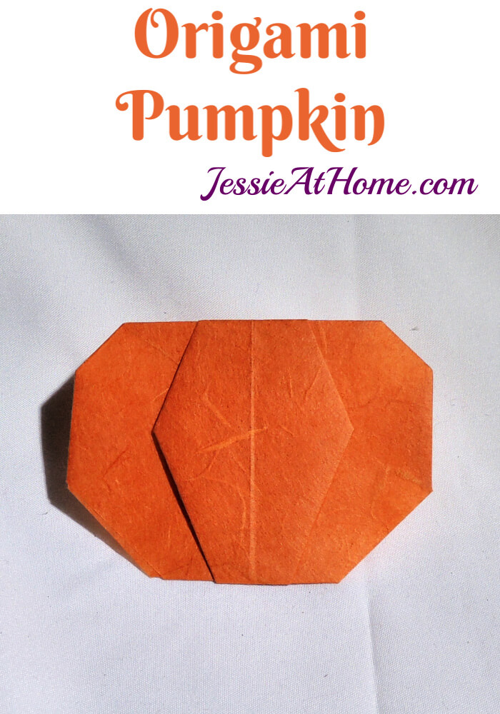 Origami Pumpkin Pattern – written and pictorial tutorial