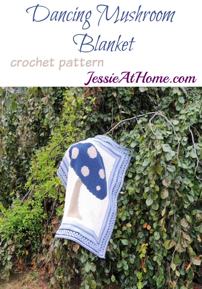 Vintage Style Crochet Afghan - Dancing Mushroom Blanket