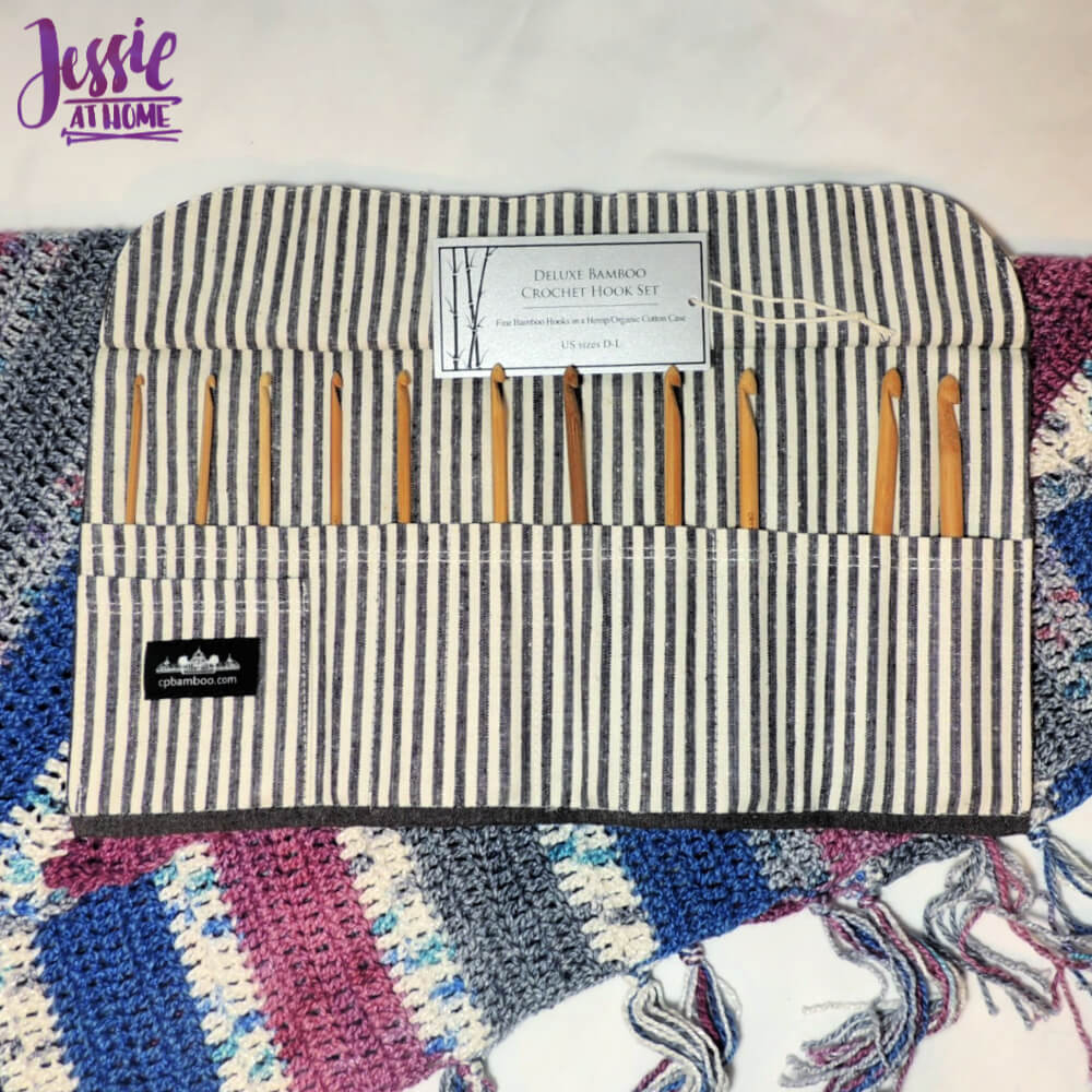 Bamboo Crochet Hook Set with Case from Crystal Palace review from Jessie At Home - open