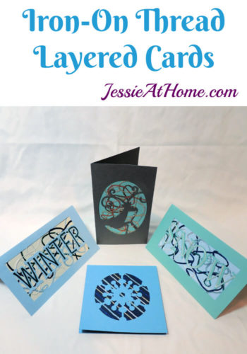 Iron-on Thread Layered Cards tutorial by Jessie At Home