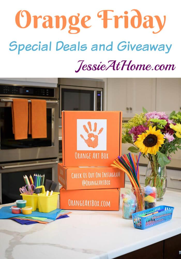 Orange Friday - Orange Art Box Special Deals and Giveaway