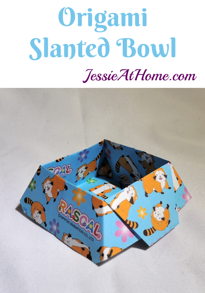 Origami Slanted Bowl – Use it for notions, jewelry, snacks, and more!