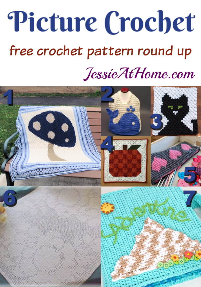 Picture Crochet free crochet pattern round up from Jessie At Home