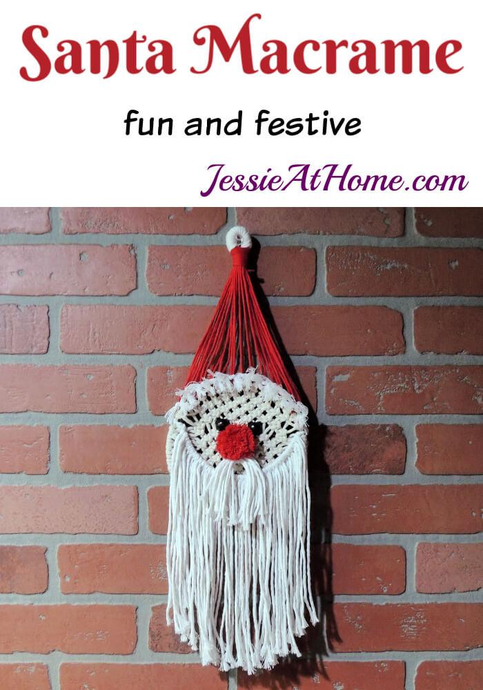 Santa Macrame Kit - what a jolly way to be knotty!