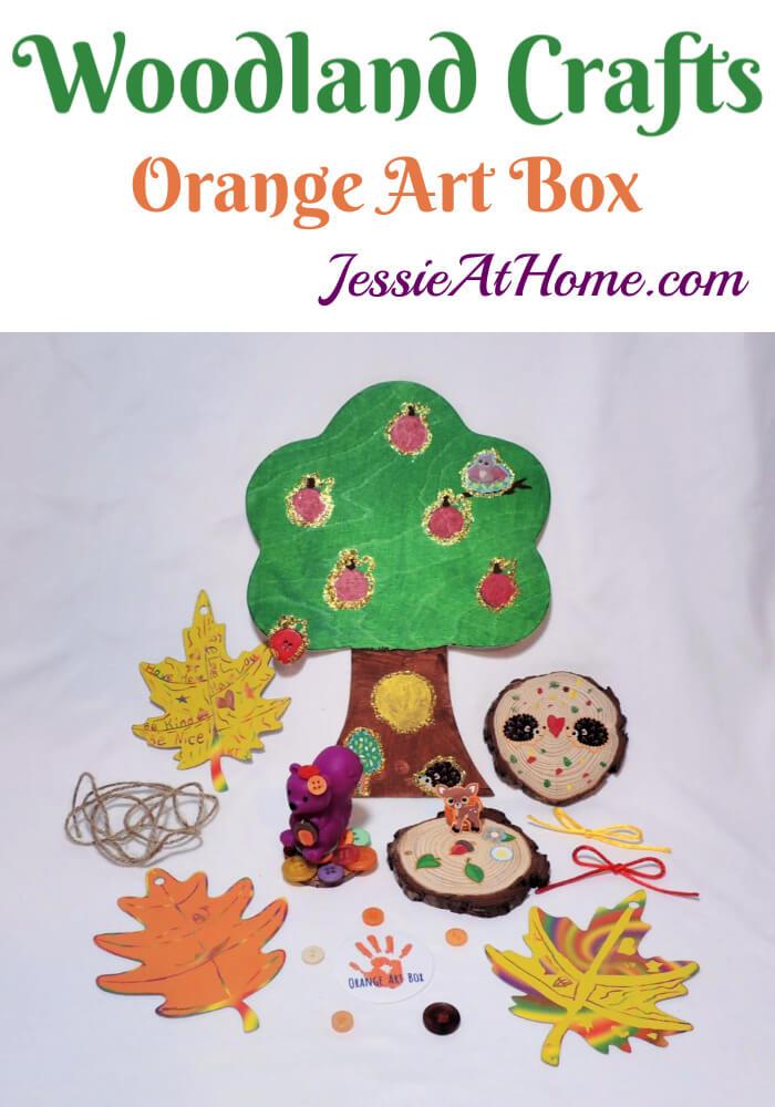 Woodland Kids Crafts - November Orange Art Box Projects