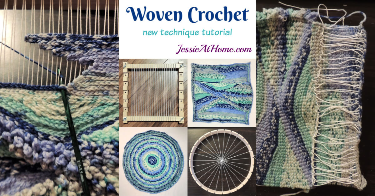 Woven Crochet - A technique tutorial by Jessie At Home - Social