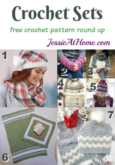 Crochet Sets - free crochet pattern round up from Jessie At Home