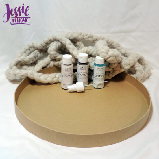 DIY Photo Background Faux Metal Tray with Yarn Lining tutorial by Jessie At Home - Supplies