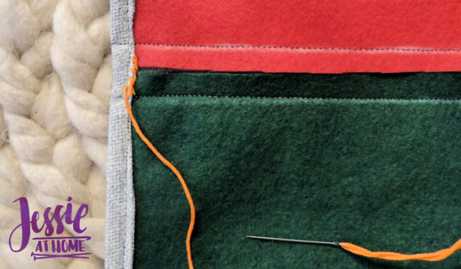 Embroidered Wrap Book DIY Bookmaking Tutorial by Jessie At Home - 11