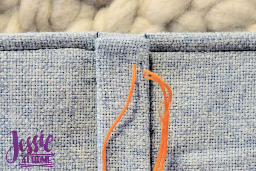 Embroidered Wrap Book DIY Bookmaking Tutorial by Jessie At Home - 12