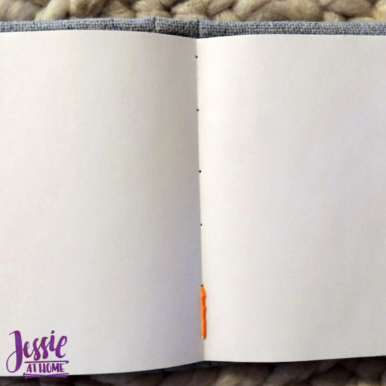 Embroidered Wrap Book DIY Bookmaking Tutorial by Jessie At Home - 13