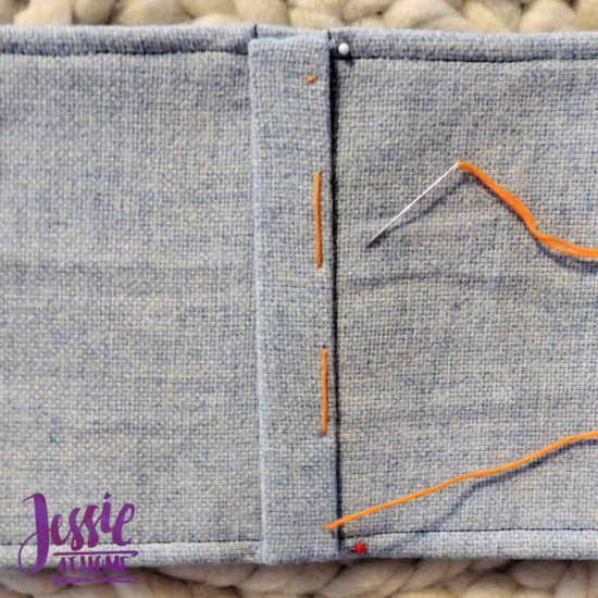 Embroidered Wrap Book DIY Bookmaking Tutorial by Jessie At Home - 15