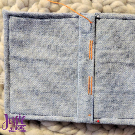 Embroidered Wrap Book DIY Bookmaking Tutorial by Jessie At Home - 18