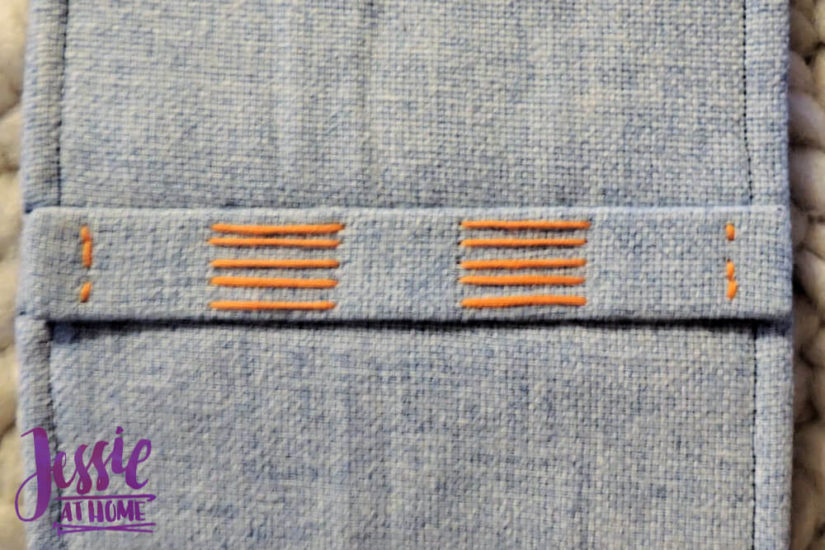 Embroidered Wrap Book DIY Bookmaking Tutorial by Jessie At Home - 19