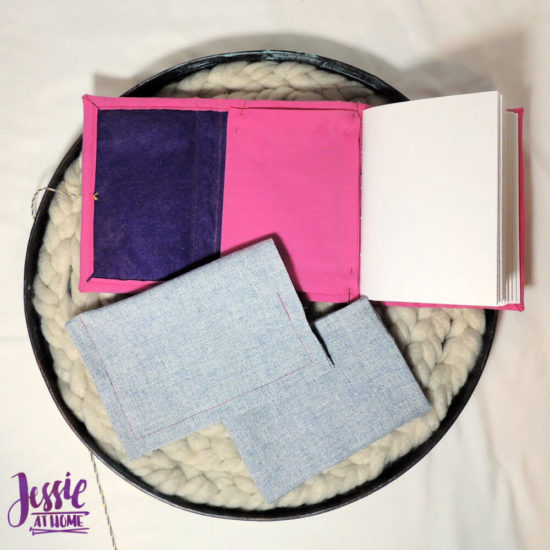Embroidered Wrap Book DIY Bookmaking Tutorial by Jessie At Home - 21