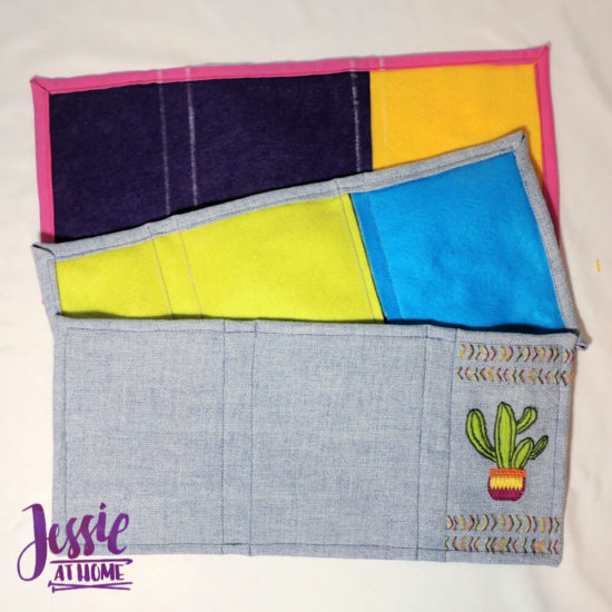 Embroidered Wrap Book DIY Bookmaking Tutorial by Jessie At Home - 5