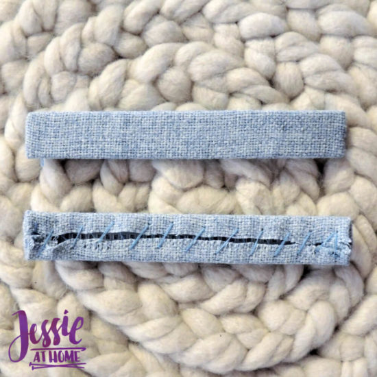 Embroidered Wrap Book DIY Bookmaking Tutorial by Jessie At Home - 7